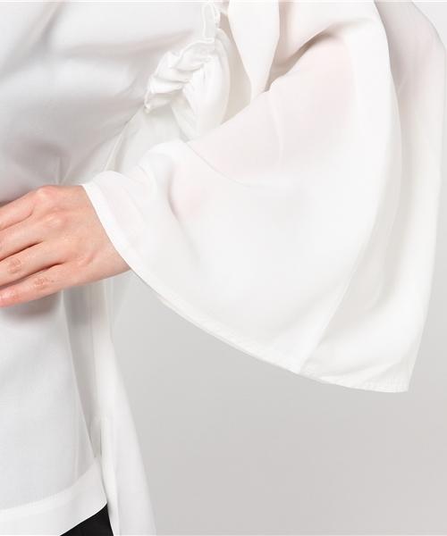 LHPWOMEN/エルエイチピーウィーメン/Ribbon BellSleeve Shirts&Choker