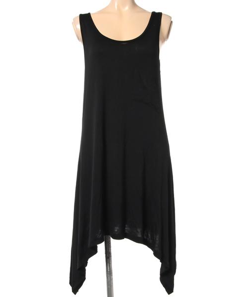 【数量限定】インポート ドレープタンクトップワンピース ドレス グレー/ブラック レディース L [mystree/ミストゥリー]