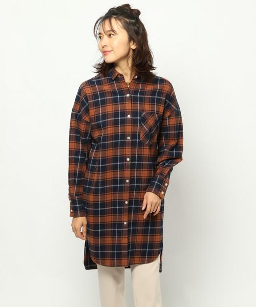 BARNYARDSTORM / ロングチェックシャツ