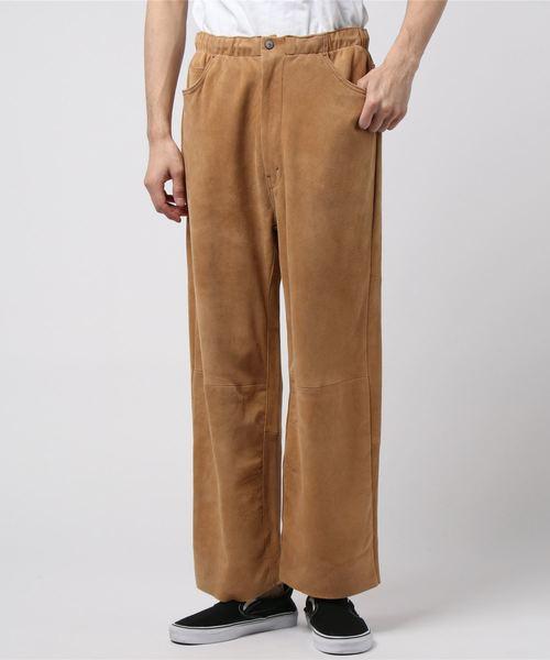 """人気の春夏 WESTOVERALLS/ウェストオーバーオール Suede Easy Wide Pants """"S""""TYPE, グッドデザインのグデザ f58aa74f"""