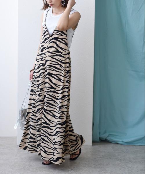 ゼブラ柄キャミドレス