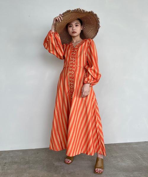 【SANSeLF】holiday stripe dress sanw69