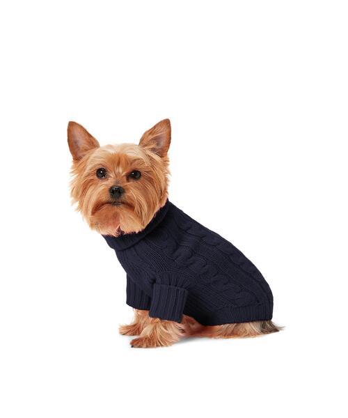 ケーブル カシミヤ ドッグ セーター