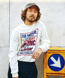 DIZZY&MILKY プリント リブ付Tシャツ