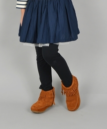 Minnetonka(ミネトンカ)のMINNETONKA:ダブルフリンジ サイドジップ(14〜22cm)(ブーツ)