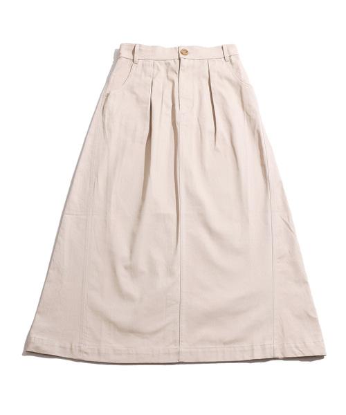 WEGO(ウィゴー)の「WEGO/ツイルロングスカート(スカート)」|詳細画像