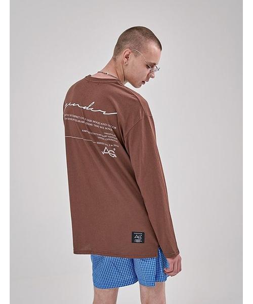 [AGENDER]ロングスリーブカラーTシャツ