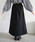 select MOCA(セレクトモカ)の「変形ツイルスカート(コットン100%ロング丈プリーツデザインスカート)(スカート)」 詳細画像