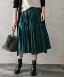 URBAN RESEARCH ROSSO WOMEN(アーバンリサーチ ロッソ)のヴィンテージサテンプリーツスカート(スカート)