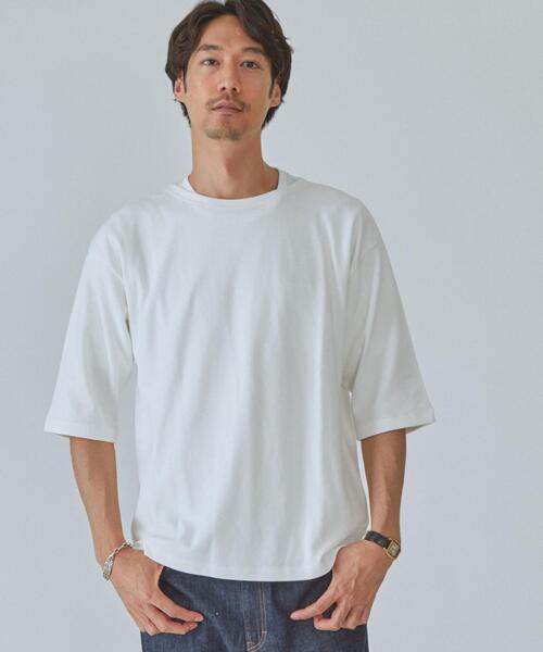 SC ガーター ボートネック 5分袖 Tシャツ カットソー
