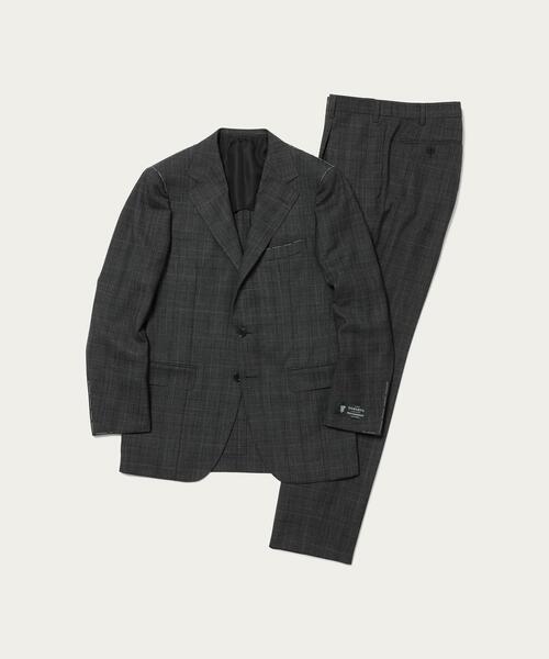 <SOVEREIGN(ソブリン)> ドーメル グレンチェック 3B スーツ