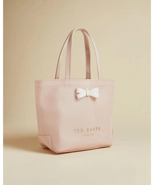 GEEOCON リボン アイコントートバッグ(Sサイズ) グレー / ピンク