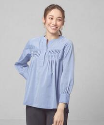 <closet story>CSC タックプリーツ スキッパーシャツ