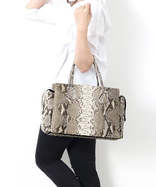 上質で快適 ダイヤモンドパイソンレザーハンドバッグ(ハンドバッグ)|HALEINE(アレンヌ)のファッション通販, モノウチョウ:bf290806 --- pyme.pe