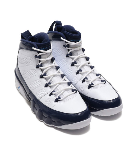 b11ca07970f NIKE AIR JORDAN 9 RETRO (WHITE/UNIVERSITY BLUE-MIDNIGHT NAVY) 【SP ...