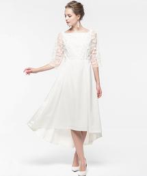 6bcfc5ec4a187 ドレス・ワンピース(ドレス・ワンピース)の「3Dフラワー刺繍2wayフィッシュテール