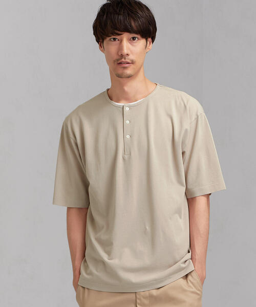 CM ☆ガーメントダイ ヘンリー SS 半袖カットソー / Tシャツ