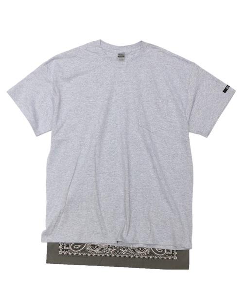 C.E.L.STORE(セルストア)の「RE CONSTRUCT/リコンストラクト BANDANA TAIL POCKET TEE(Tシャツ/カットソー)」 グレー