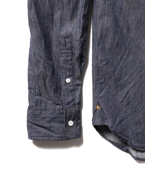 BEAMS PLUS / デニム ボタンダウン シャツ