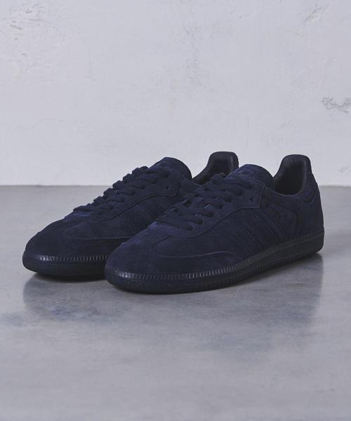 【別注】<adidas(アディダス)> SAMBA NAVY MENS†