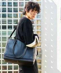 LEEL/Grain leather 2way tote(トートバッグ)