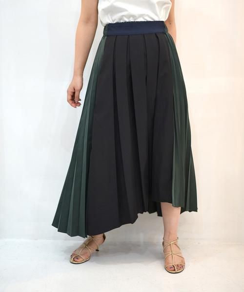 【Eimee Law】BOX×アコーディオンアシメプリーツスカート