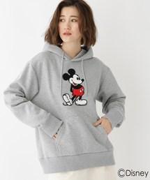 Disney(ディズニー)のDISNEY ディズニー ミッキーマウス サガラ 刺繍 パーカー(パーカー)