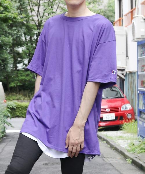 ROOPTOKYO(ループトウキョウ)の「Champion Authentic T-SHIRTS/ チャンピオン コットン Tシャツ(1/2スリーブ)(Tシャツ/カットソー)」|パープル