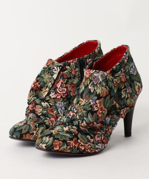 春夏新作 【セール】MANA Shiota マナ マナ フラワープリントシャーリングリボンヒールショートブーツ(ブーツ)|MANA(マナ)のファッション通販, オキノシマチョウ:a4e3b315 --- dominique-bilitza.de