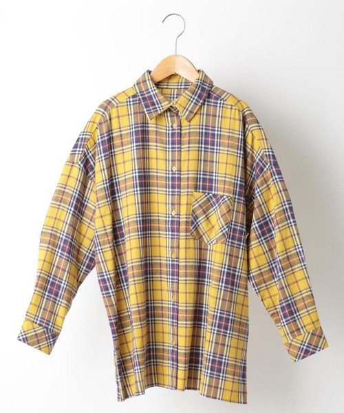 ネルチェックBIGシャツ