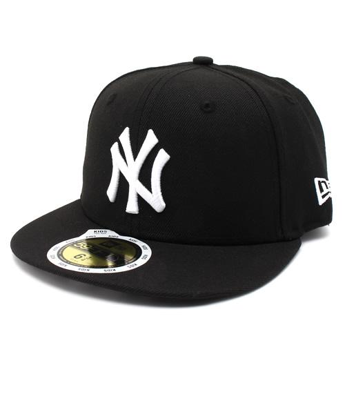 6558395ef1559 NEW ERA(ニューエラ)の「NEWERA KIDS 59FIFTY UNDERVISOR BROOKLYN NEW YORK YANKEES  BLACK