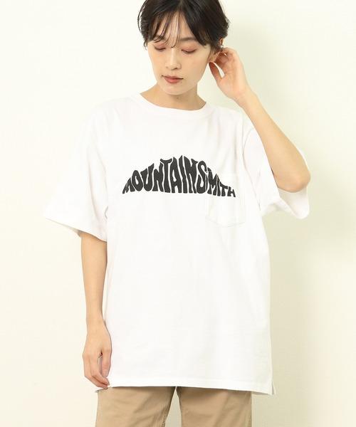 【 MOUNTAIN SMITH / マウンテンスミス 】フロントロゴ半袖ポケットTシャツ