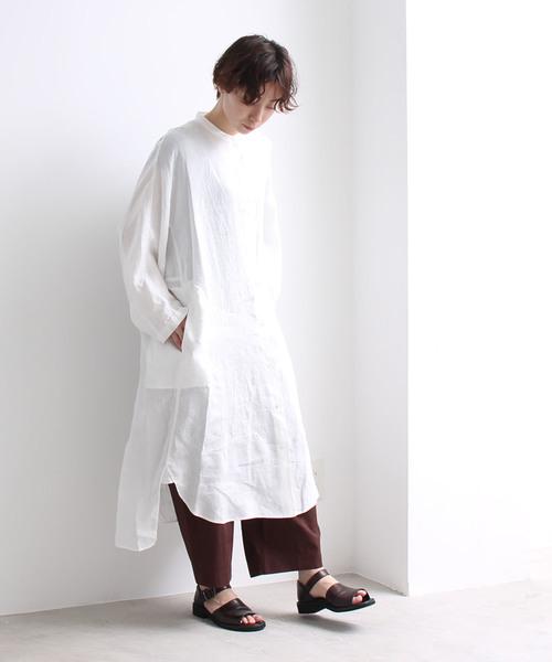 【国内正規品】 フレンチリネン バンドカラーワイドワンピース(ワンピース)|yuni(ユニ yuni,ユニ,bulle de )のファッション通販, ステンレスアートG-1:84c9cbc6 --- blog.buypower.ng