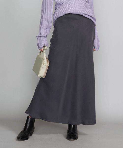 BY∴ ヴィンテージライクキュプラ タイトマキシスカート