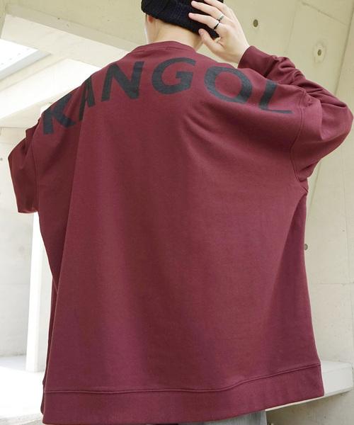 【BASQUE -enthusiastic design-】KANGOL カンゴール BASQUE magenta 別注 バックプリント スーパービッグシルエット プルオーバースウェット