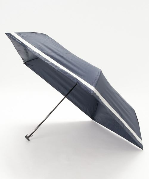 軽量120g スーパーライトリムボーダー折り畳み日傘【UV加工、遮光·遮熱、晴雨兼用傘】