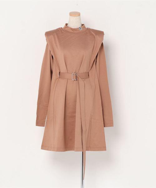 【MAISON MIHARA YASUHIRO】ショルダーパッドカットワンピース/Shoulder pad T-sh dress