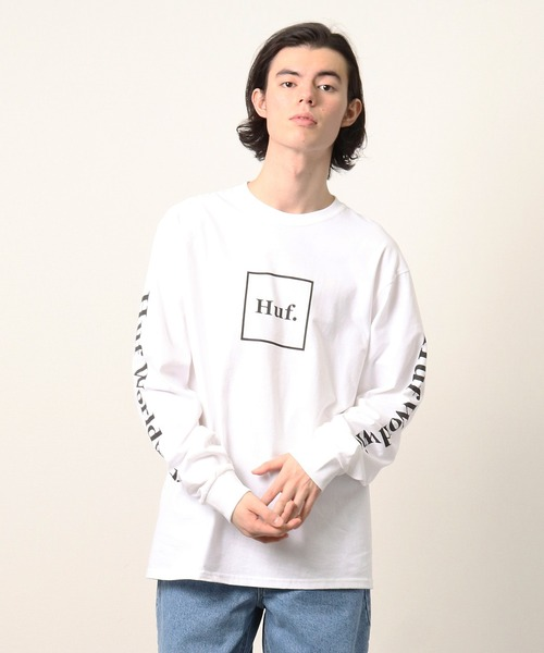 【 HUF / ハフ 】 TS00146 スクエアロゴ ロングTシャツ