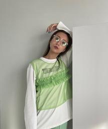 【SANSeLF】2way seethrough vest sanw74ライトグリーン