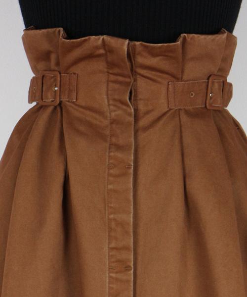 DEICY(デイシー)の「サイドベルトチノフレアースカート   (スカート)」|詳細画像