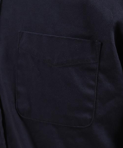 ms3834-ミニスタンドカラーL-Sオックスシャツ