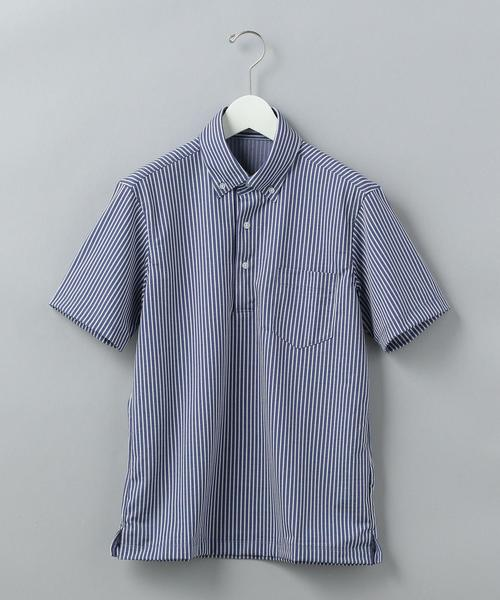 【WORK TRIP OUTFITS】★WTO TC ロンドンストライプ ボタンダウン ポロシャツ