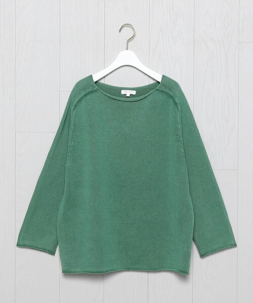 <DEMYLEE>COTTON FADE BOAT NECK KNIT/ニット