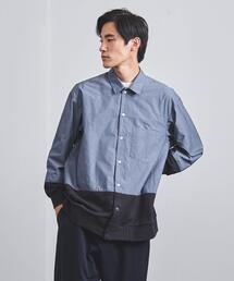 <EN ROUTE(アンルート)> タイプライター×スウェット レギュラーカラーシャツ