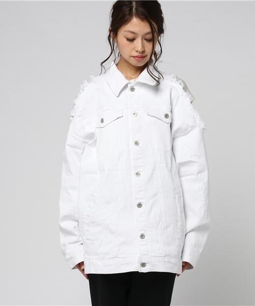 Chica/チカ/Damege Denim Jacket