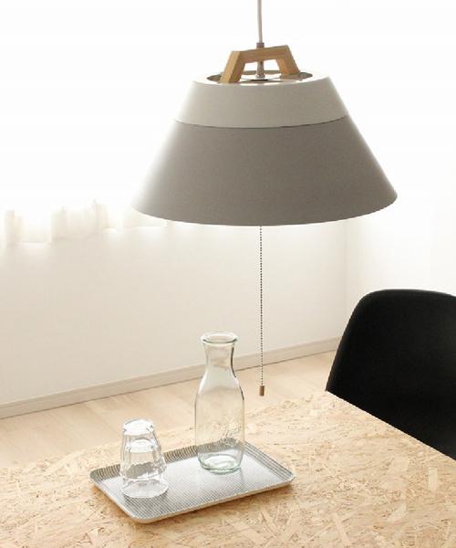 BRID(ブリッド)の「ブリッド 照明 ペンダントライト / BRID LAMP by 2TONE 3BULB PENDANT LIGHT (電球あり)(照明)」|グレー