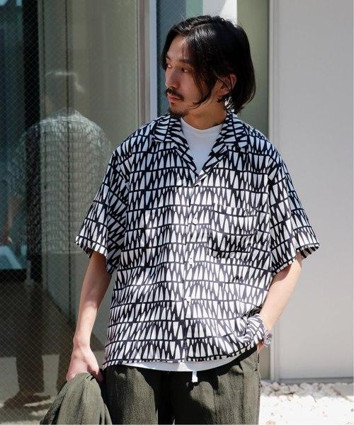 ストラクチャーパターンオープンカラーシャツ ♯