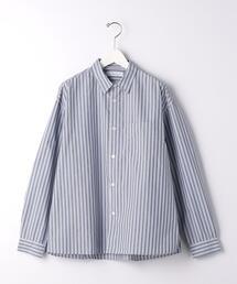 < 機能 / 抗菌 > CM ストライプ ルーズ レギュラーカラー シャツ