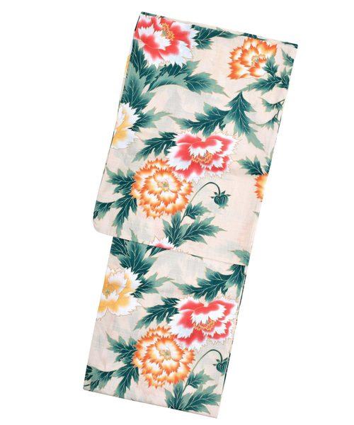 KIMONOMACHI(キモノマチ)の「レディース浴衣セット 変わり織り綿浴衣+浴衣帯の2点セット LADY STYLE(浴衣)」 詳細画像