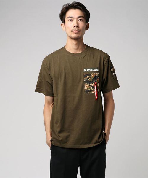 PANDIESTA JAPAN /パンディエスタジャパン パンダーカモ ポケTシャツ